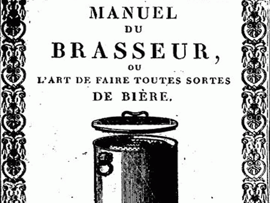 Illustration de Manuel Roret du brasseur : une mine !